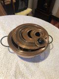 Copper laboratory liquid warming bowl