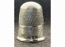 Solid Silver Thimble by James Fenton